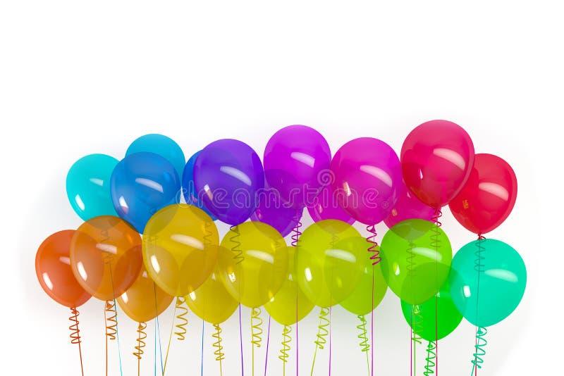 3d rendent des ballons color?s illustration stock