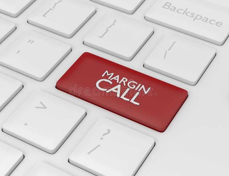 3d rendent du clavier d'ordinateur avec le bouton d'APPEL DE MARGE illustration libre de droits