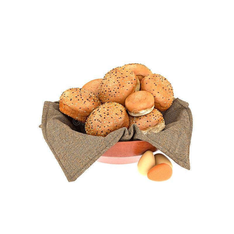 3D rendent du pain illustration libre de droits