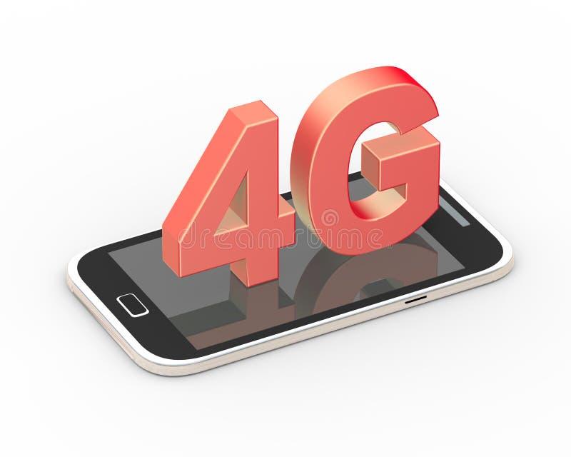 3d rendent du téléphone portable 4g intelligent générique illustration libre de droits