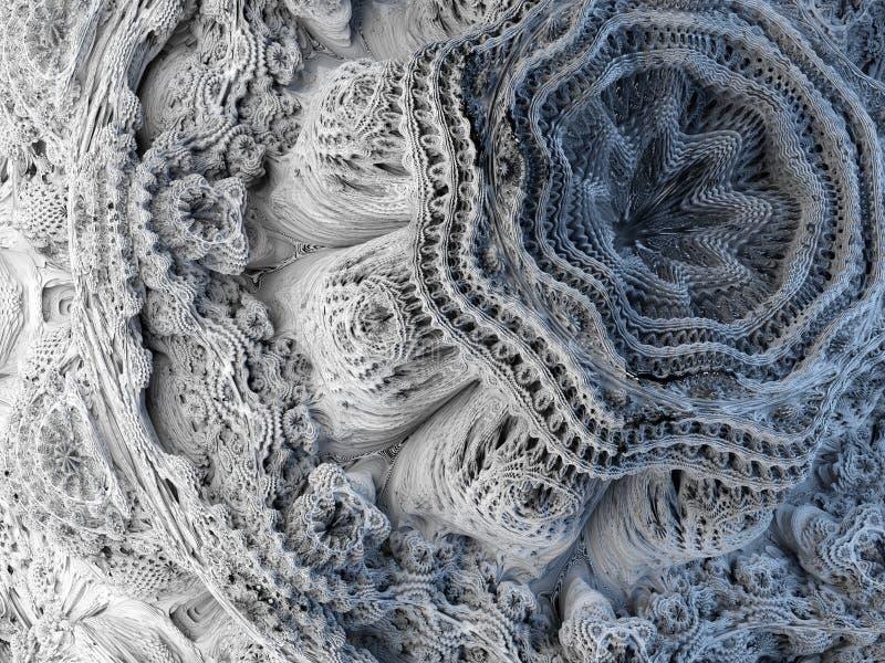 3d rendent, fond abstrait de fractale, formes microbiologiques, macro nature, modèle organique, papier peint du monde de quantum illustration stock