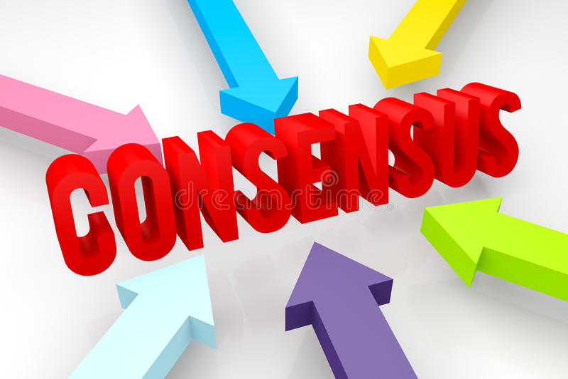Consensus illustration stock