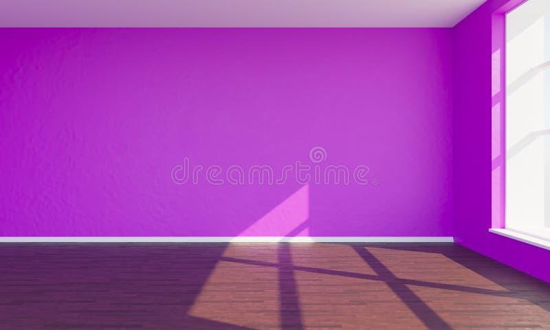 3d rendent la chambre à coucher rose photos libres de droits