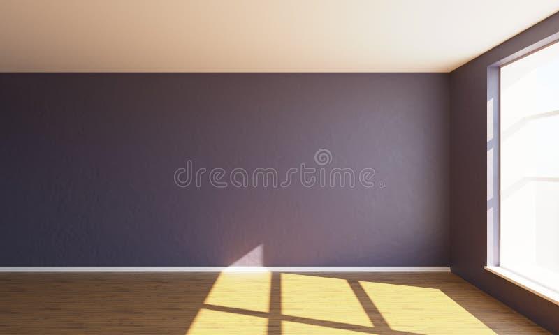 3d rendent la chambre à coucher vide rose photos libres de droits