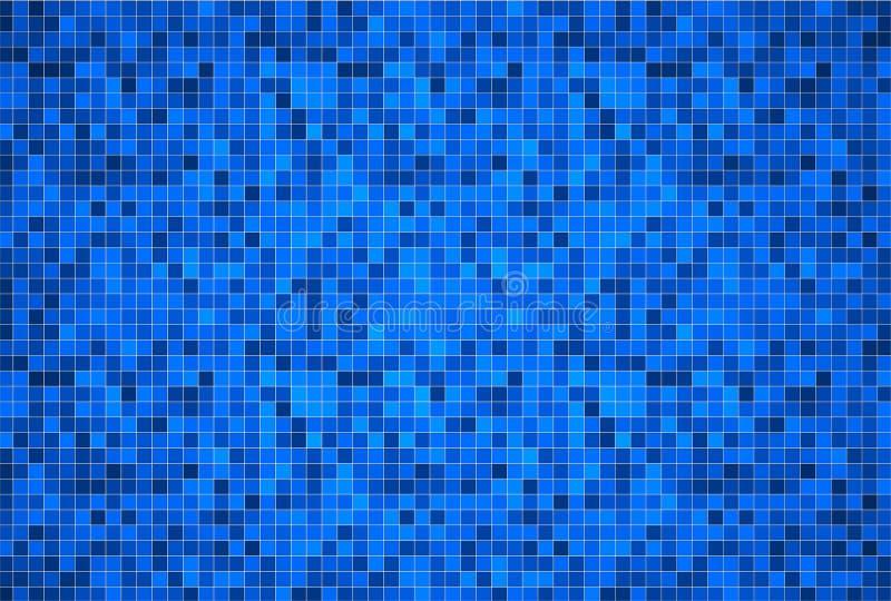 3d rendent le fond des tuiles de piscine illustration libre de droits