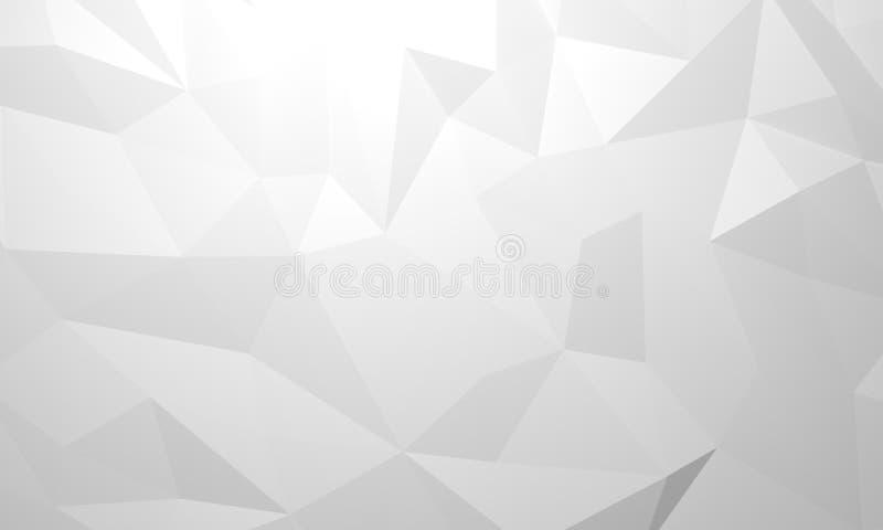 3d rendent, soustraient le fond en cristal noir, texture facettée, panorama, papier peint polygonal panoramique large - illustrat illustration de vecteur