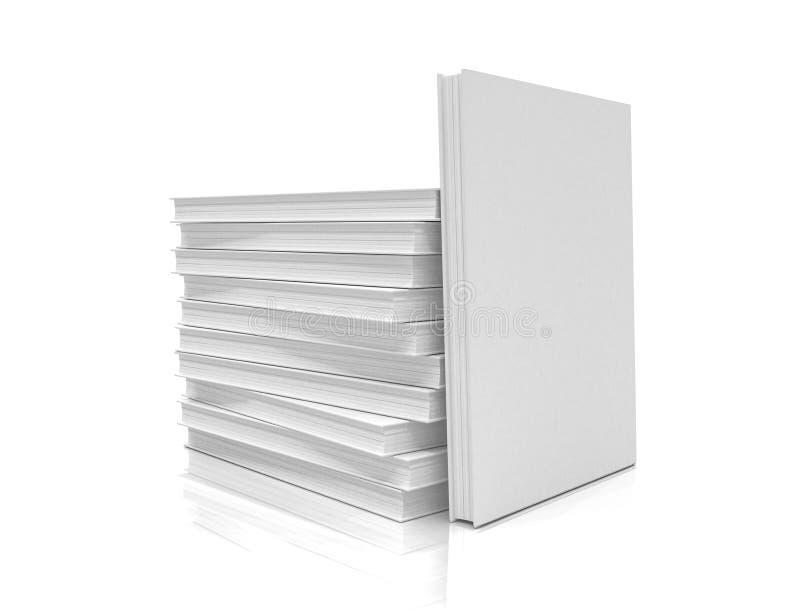 3d rendent d'une pile des livres sur le fond blanc - d'isolement illustration de vecteur