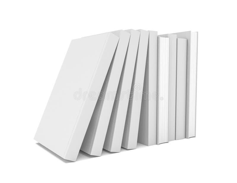 3d rendent d'une pile des livres sur le fond blanc - d'isolement illustration stock
