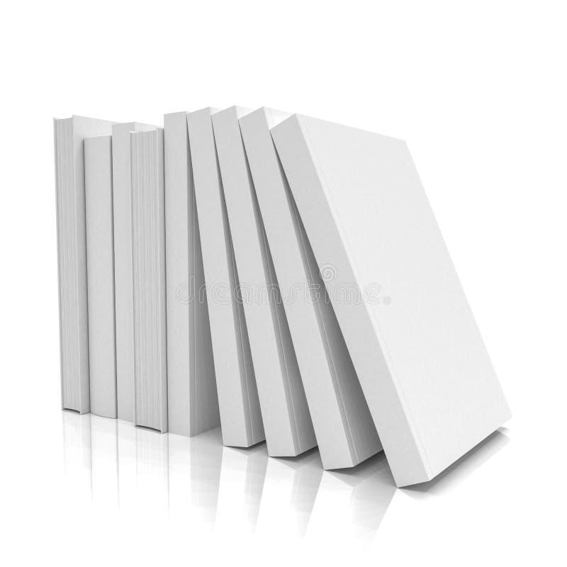 3d rendent d'une pile des livres sur le fond blanc - d'isolement illustration libre de droits
