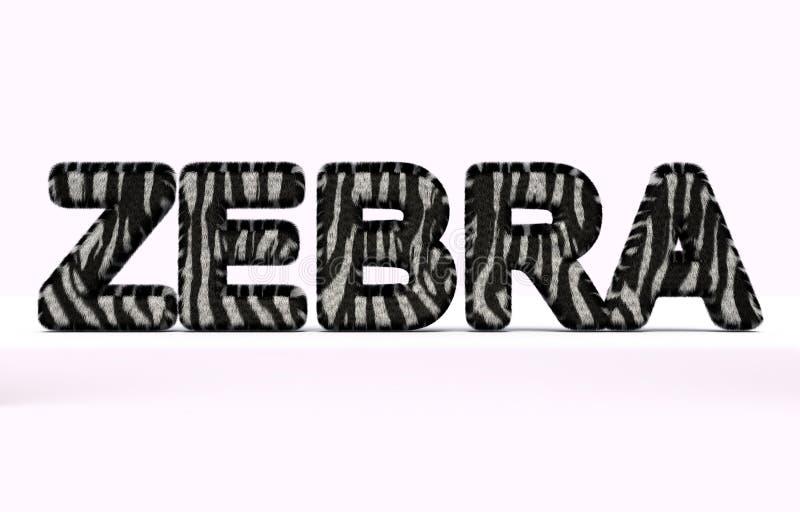 Exprimez le zèbre avec le style de fourrure illustration de vecteur