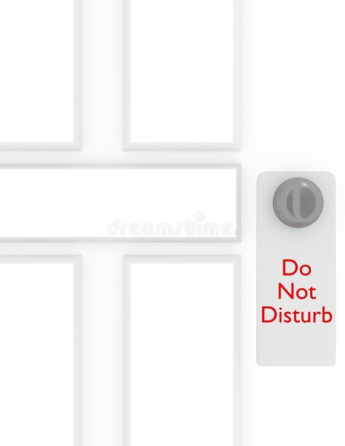 3d Render не нарушают знак на двери бесплатная иллюстрация