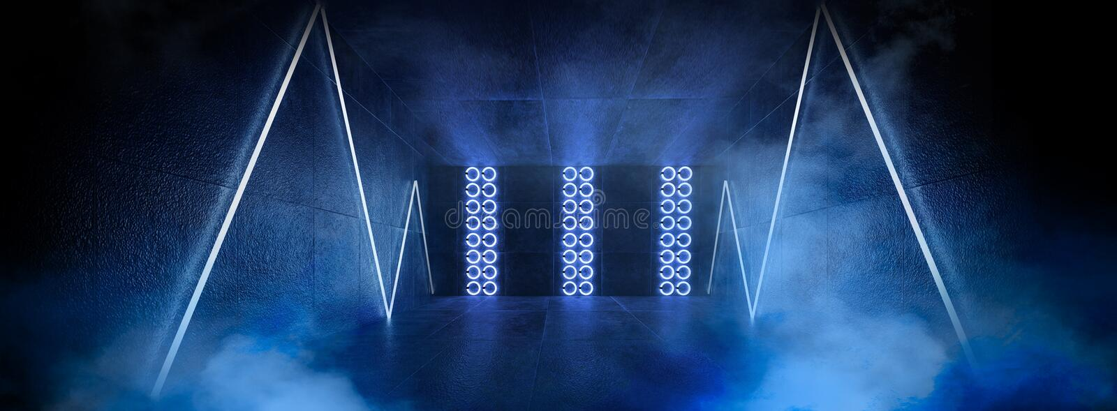 3d render, abstract background, tunnel, neon lights, virtual reality, arch, pink blue, vibrant colors, laser show, isolated on bla stock photos