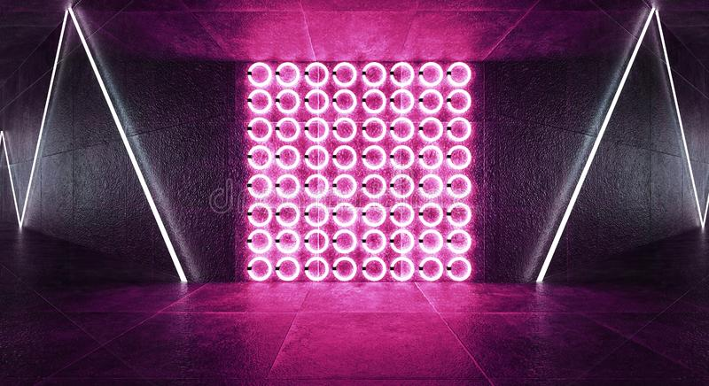 3d render, abstract background, tunnel, neon lights, virtual reality, arch, pink blue, vibrant colors, laser show, isolated on bla. Ck. Dark room, corridor royalty free stock photos