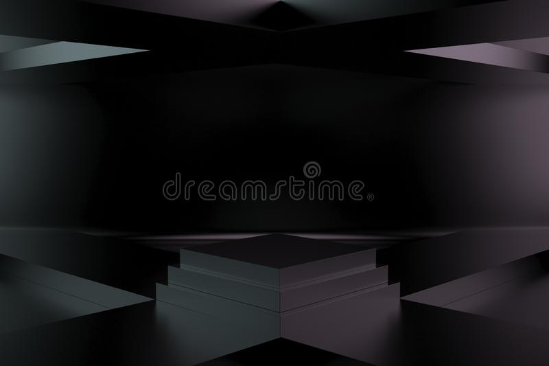 3d render, abstract geometric background, minimalistic primitive shapes, modern mock up, empty showcase, shop display ,blank royalty free illustration