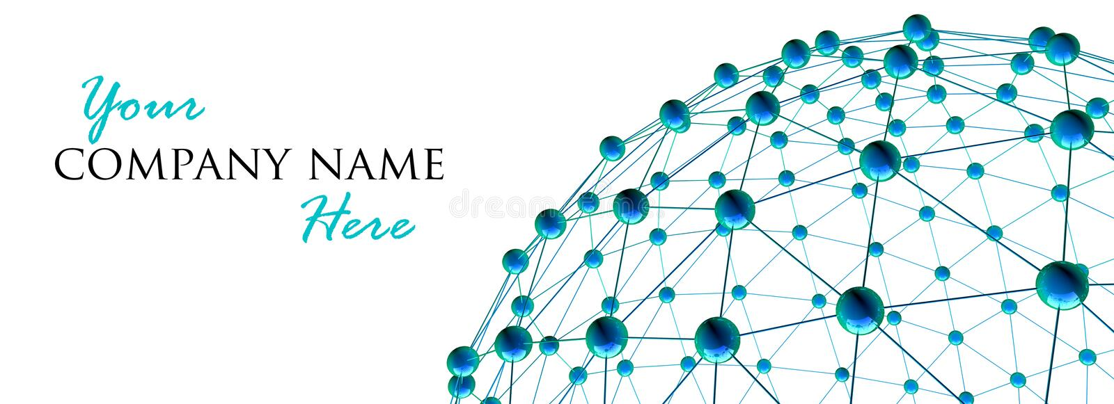 3d render of abstract network royalty free stock photo