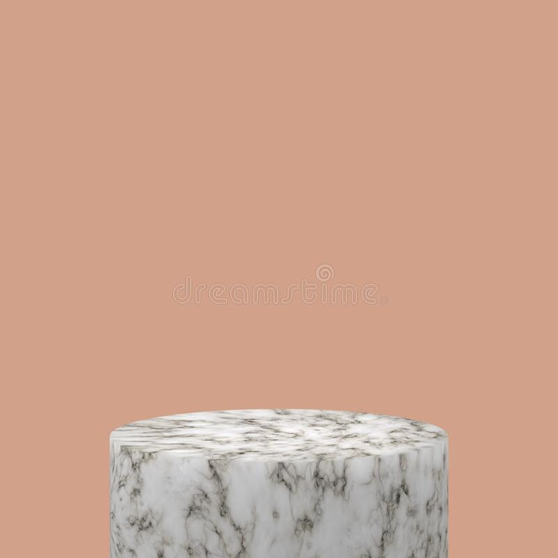 3d render abstract pastel color mock up scene. white terrazzo podium and pink background for product stock images