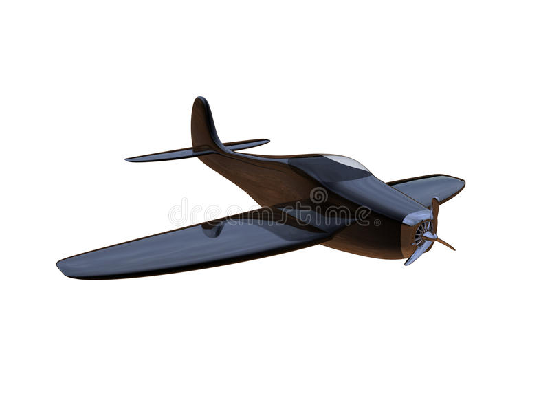 Airplane. 3d render of an air plane isolated on a white background royalty free illustration
