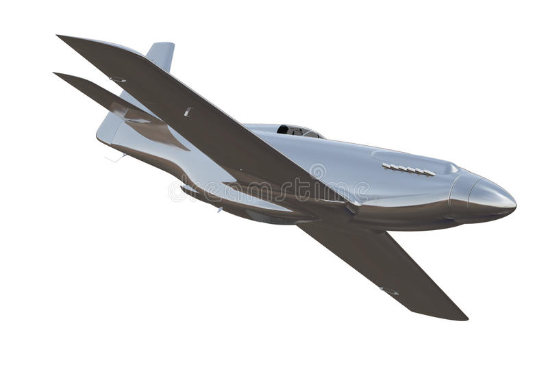 3d Render of Air Racer stock photography