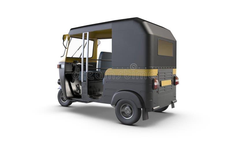 3D render of Autorickshaw isolated on white background. royalty free illustration