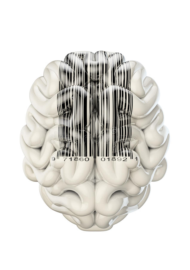 Barcode Brain Royalty Free Stock Images