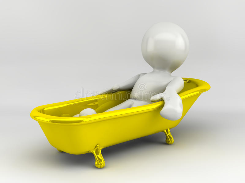 Download 3d render of cartoon stock illustration. Image of bathroom - 32999090