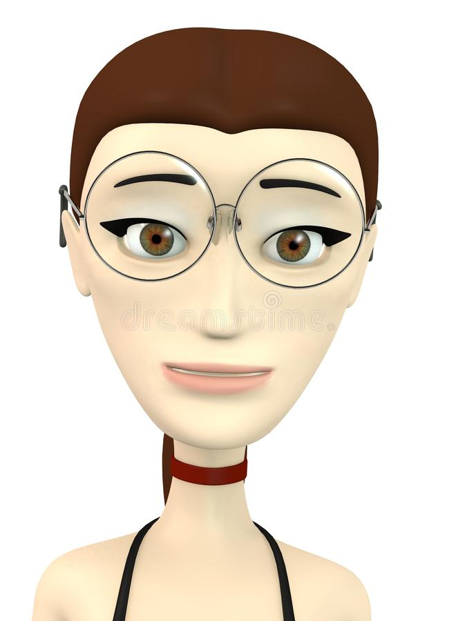 Cartoon Girl With Glasses Stock Image - Image: 29934721