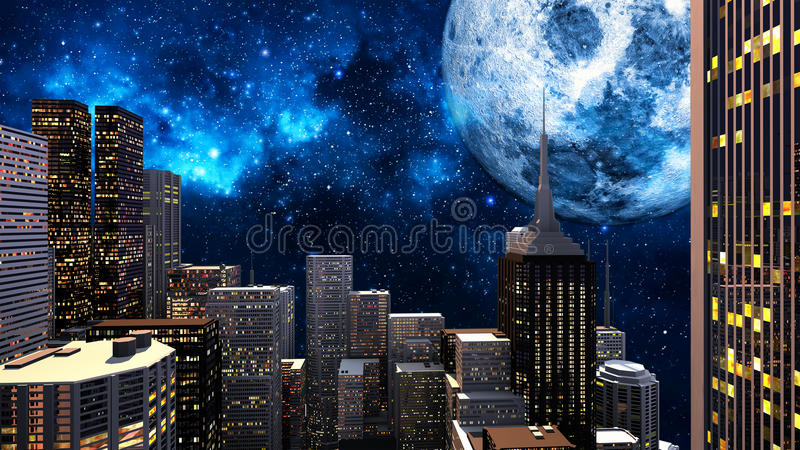 Night In The City Stock Photography