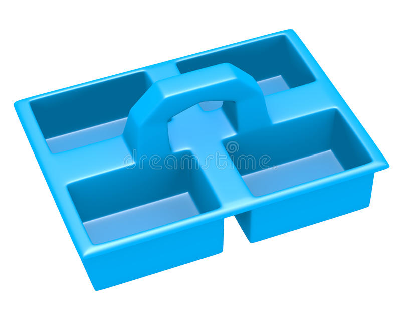 3d Render Of A Cleaning Caddy Stock Illustration