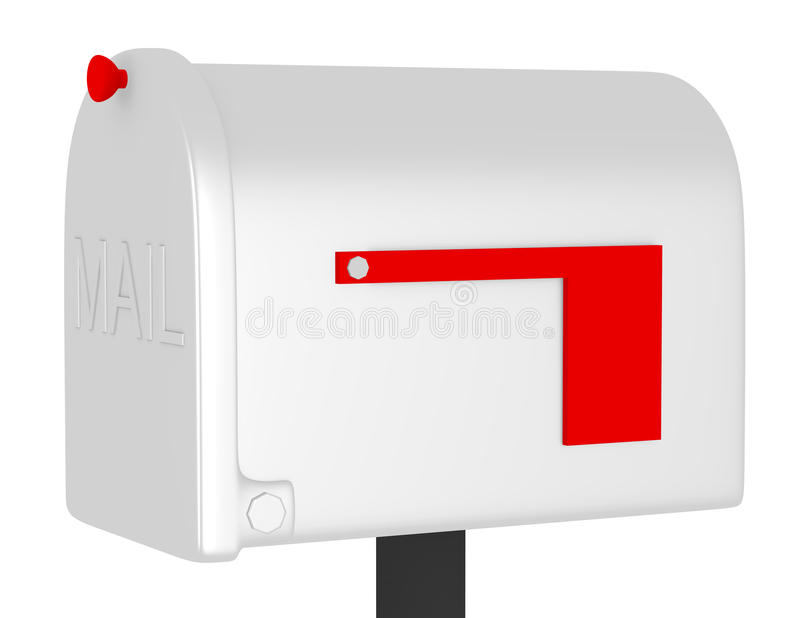 3d Render Of A Closed Mailbox Stock Illustration