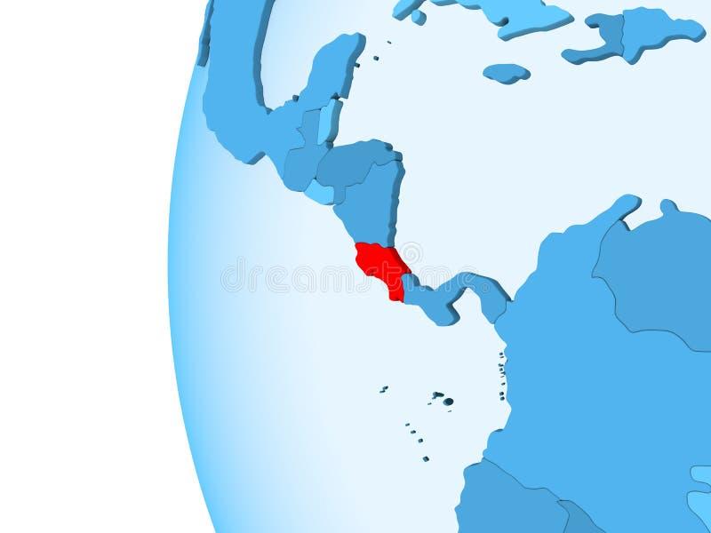 Map of Costa Rica stock illustration