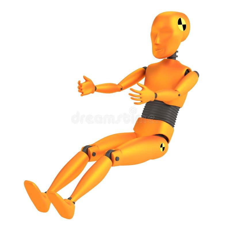 3d render of crash dummy - child vector illustration