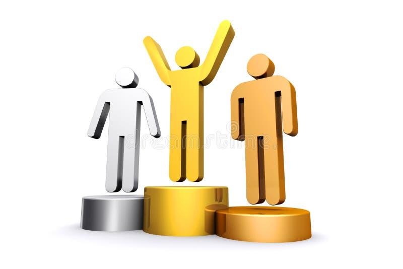 3d render empty winners podium stock illustration - Dessin podium ...