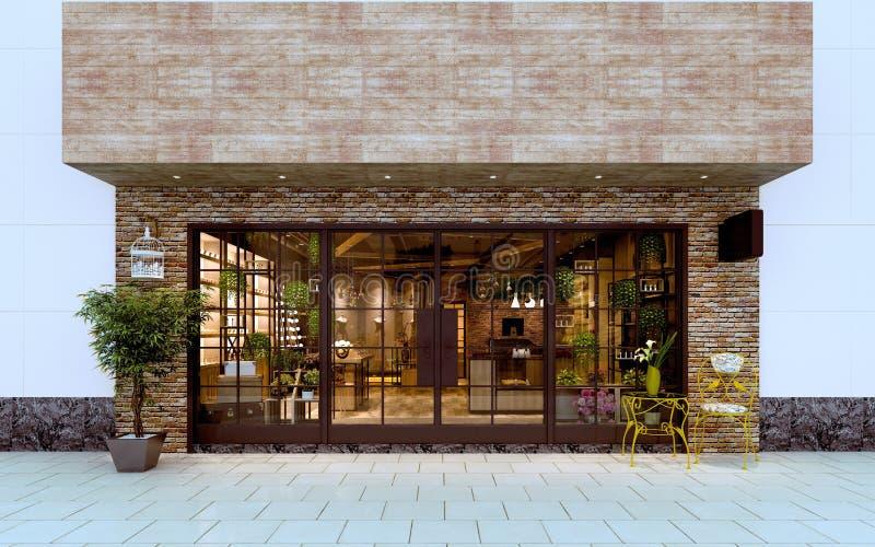 3d render of Fashion Shop Exterior royalty free illustration