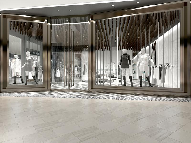 3d render fashion shop vector illustration