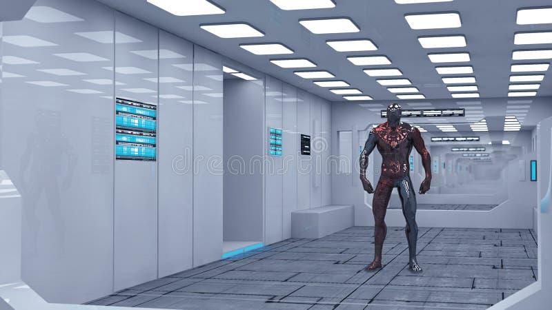 Futuristic Spaceship Interior Stock Illustration   Illustration Of Fiction,  Input: