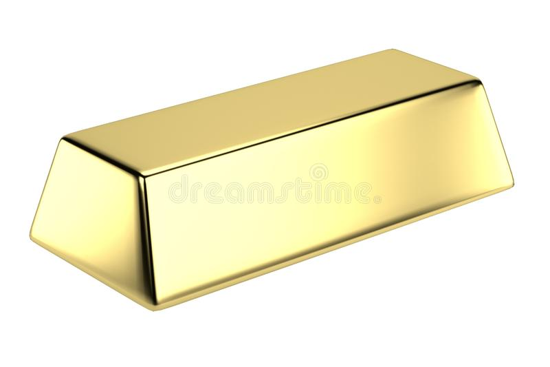3d render of gold bar. Realistic 3d render of gold bar vector illustration