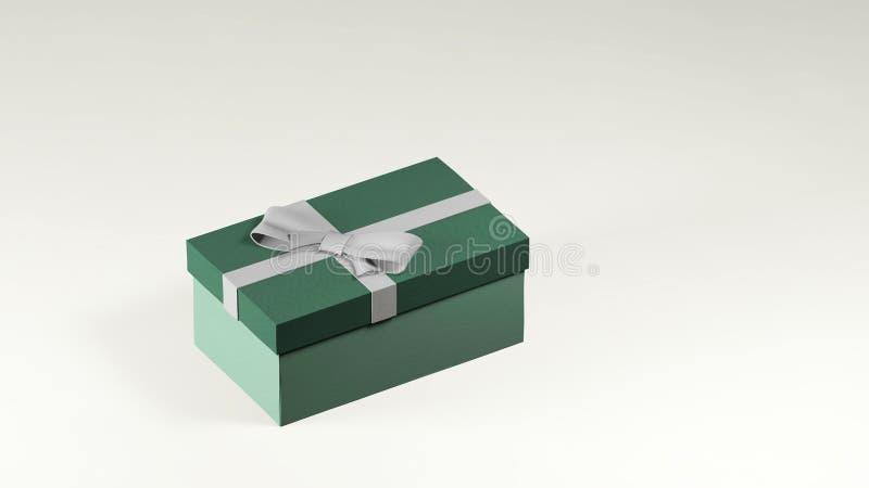 3d Render of green gift box ilustracji