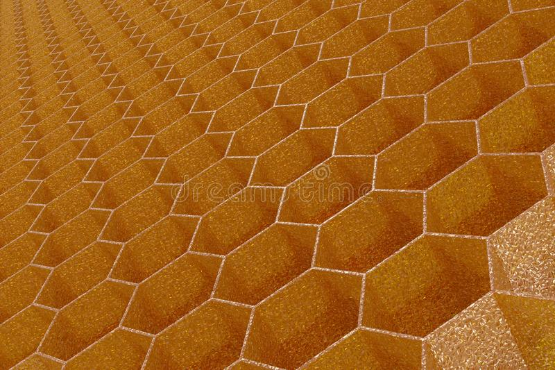 3D Render of Honeycomb stock image