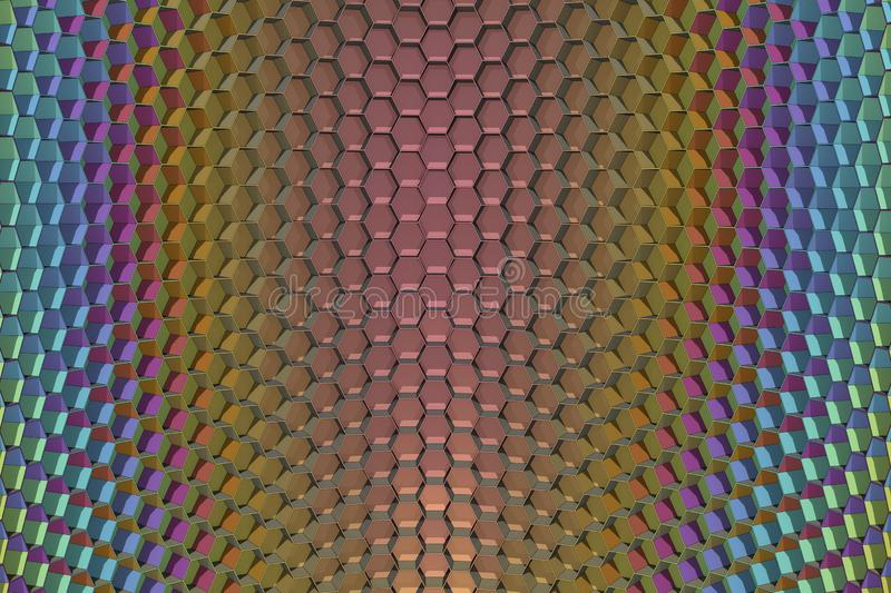 3D Render of Honeycomb Grid royalty free stock photos