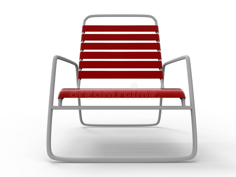 Front view of a red lounge chair royalty free illustration