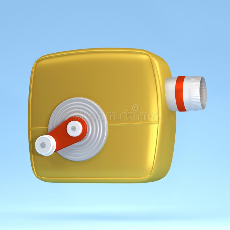 3d render Illustration. Movie-cinema camera cartoon style. 3d render Illustration. Movie-cinema camera cartoon style background concept object media film video vector illustration