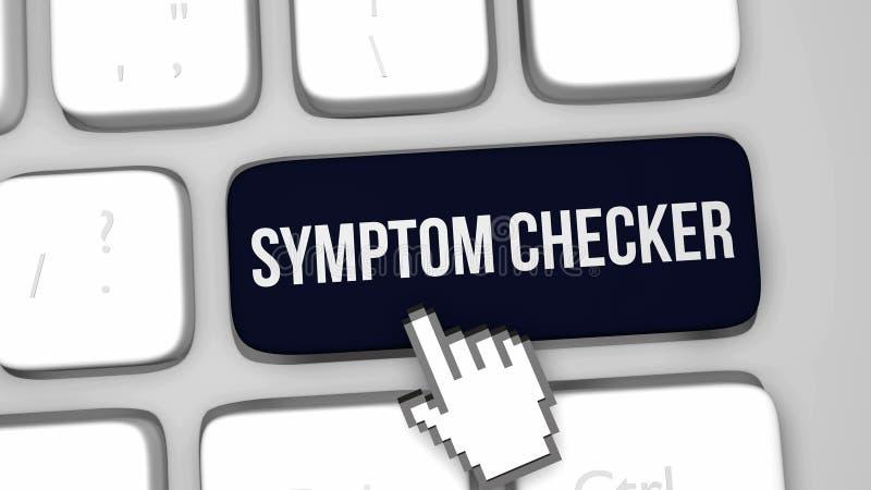 Symptom checker keyboard key stock illustration