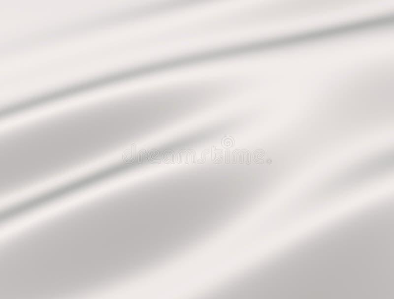 White silk fabric. 3d render illustration.White silk fabric stock illustration