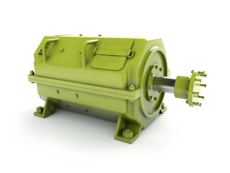 Industrial electric motor vector illustration