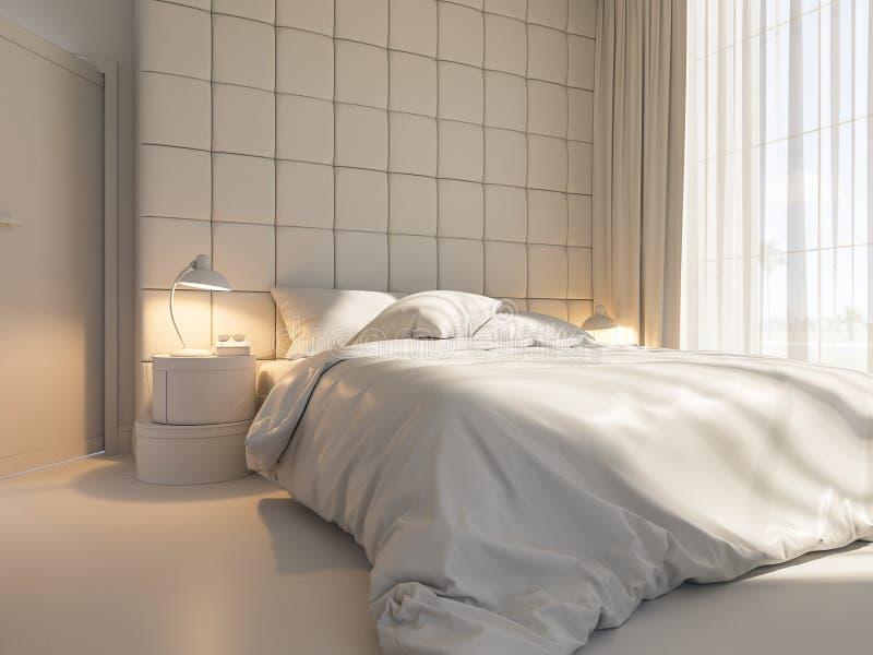 3d render of an interior design of a bedroom royalty free illustration