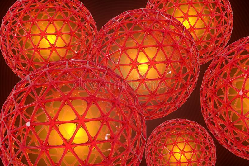 3D Render of Lattice Spheres royalty free stock images