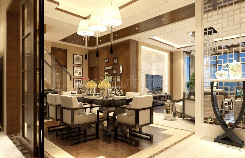 3d render of luxury living room vector illustration