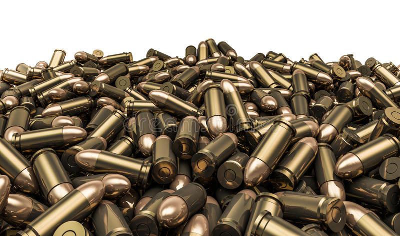 Bullets pile royalty free illustration