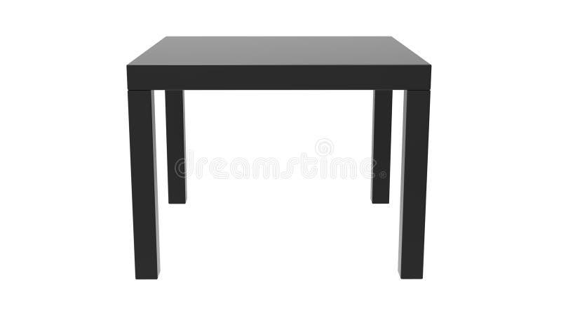 Black Side Table vector illustration
