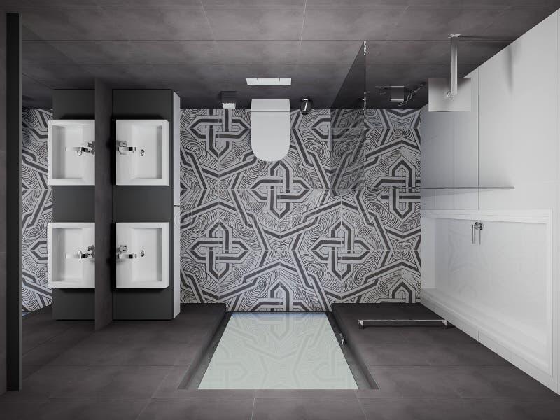 Download 3D Render Modern Interior Of Bathroom Stock Photo